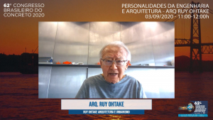 Ruy Ohtake palestrando no 62ºCBC virtual